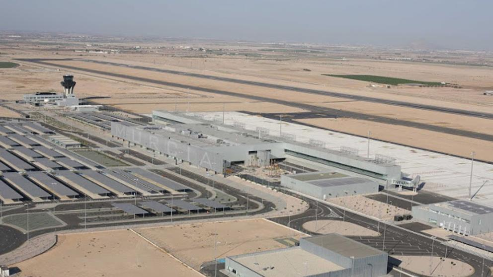 Corvera Airport - Aerial shot of the airport and terminal