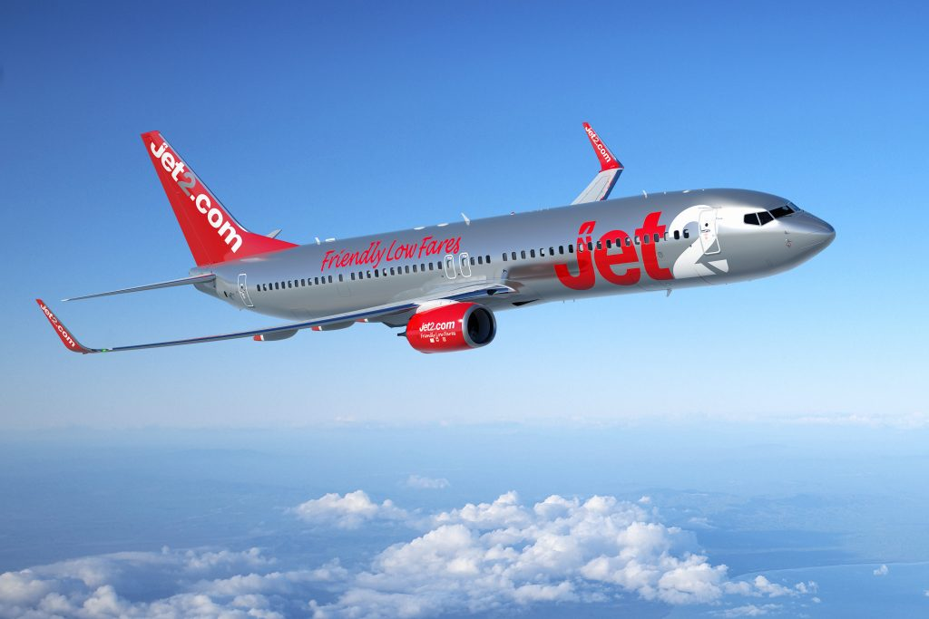 Jet2 plane in flight