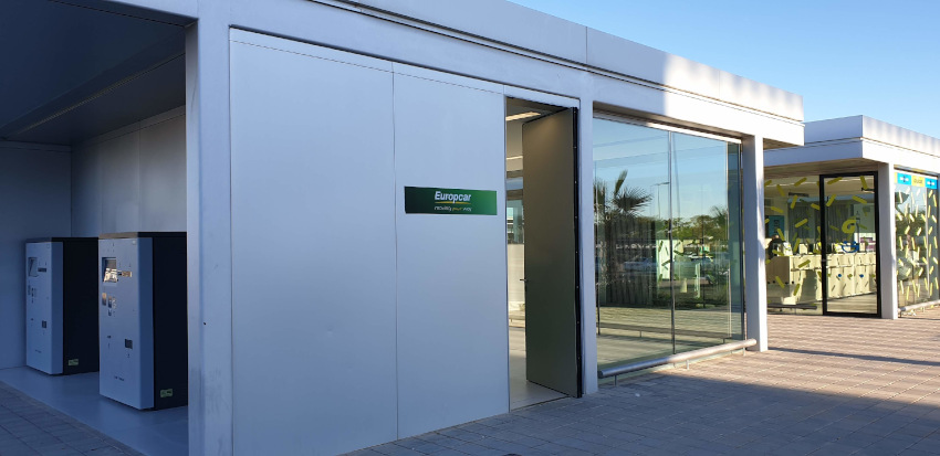 Corvera Airport Europcar car hire office