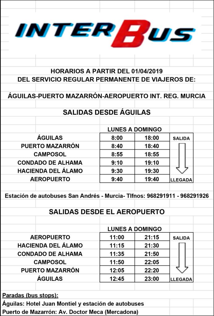 Corvera Murcia Airport Buses - Corvera Airport Travel