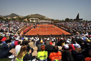 Spain vs Paraguay in Fed Cup at La Manga Club