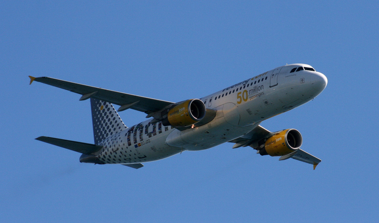 Vueling aircraft in flight