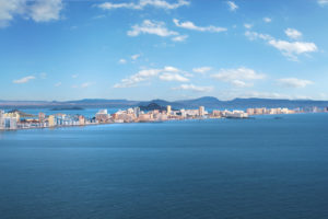 Panorama of Murcia coastline