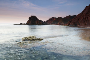Tranquil beach setting in Murcia