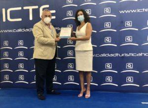 "Presentation ""Safe Tourism"" certificate"