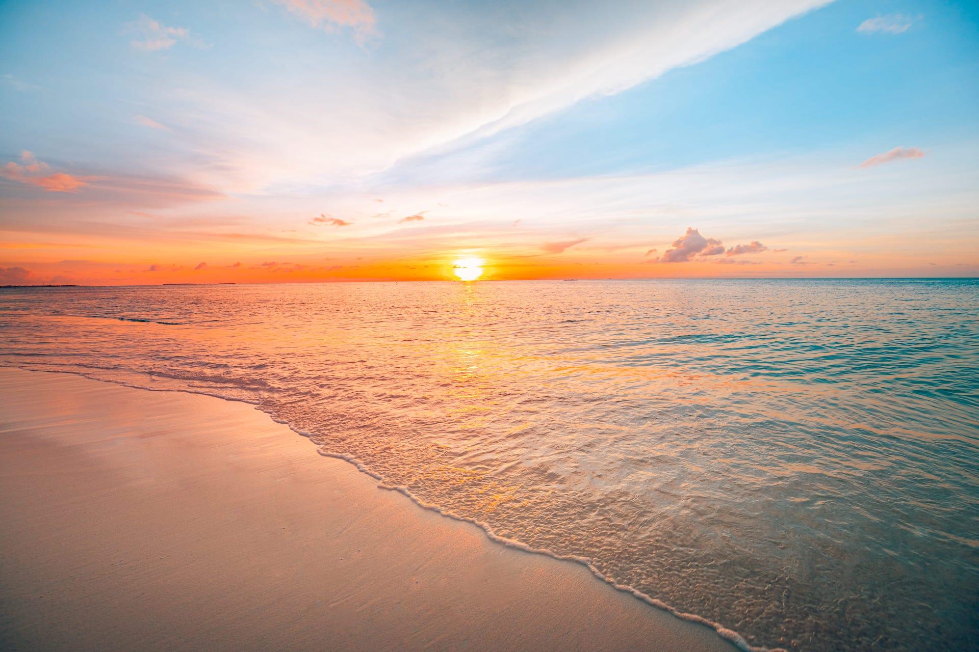 Idyllic beach setting