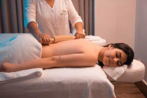 Woman enjoying spa treatment