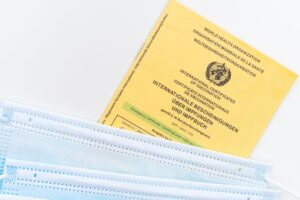 Passport and vaccination certificate